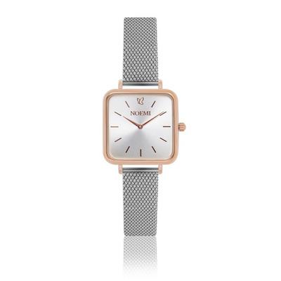 Uhr Frau Noemi I Rose Gold-Silber-Silber