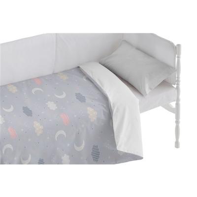 Bettbezug für Kinderbett Moon I Lila 100x120 + 50x30 cm