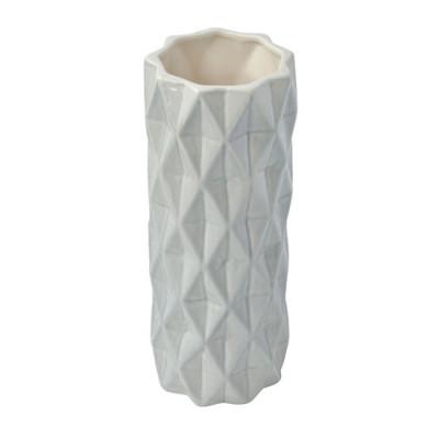 Vase Parker Klein   Grau & Weiß