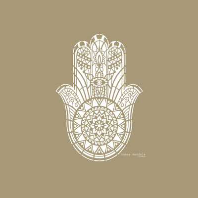 Schablone Mandala   Hamsa
