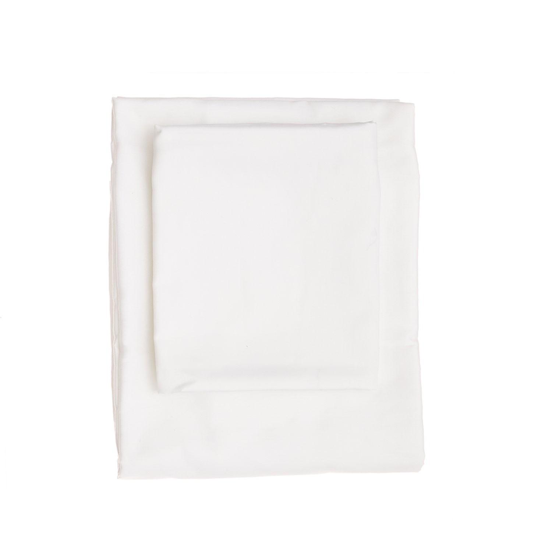 Bettbezug-Set Super King De White I Weiß - 260x220cm