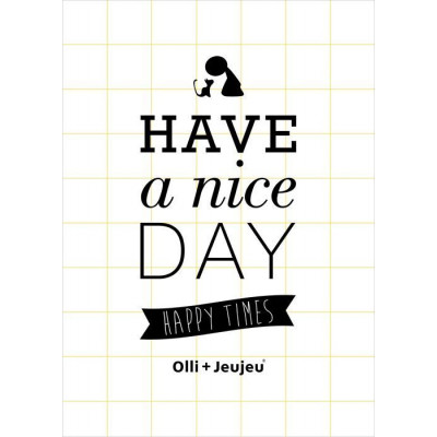Have A Nice Day Poster | Gelb