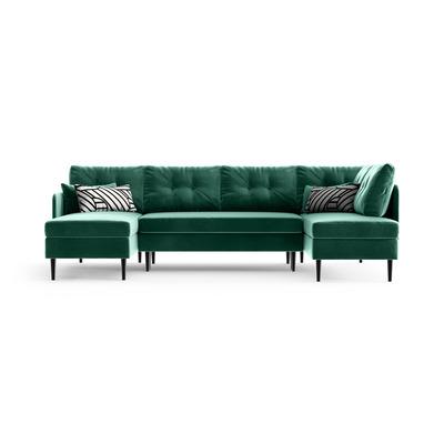 Ecksofa rechts Memphis | Smaragdgrün