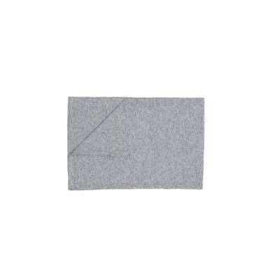 Einfarbiger Strickschal | Grau
