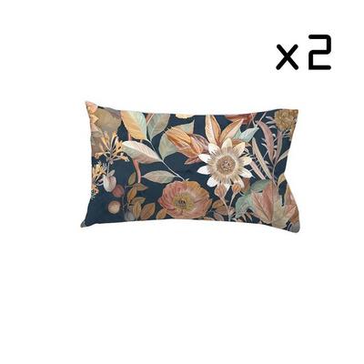 2er-Set Kissenbezug 50x75 cm I Agramas Schwarz