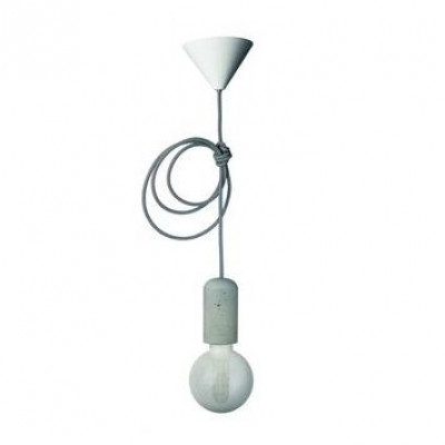 Concrete Pendant Lamp | Black-White