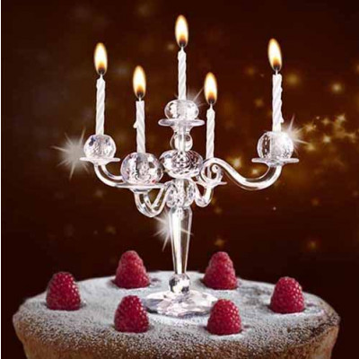 Bling Bling Cake Candelabra | Transparent