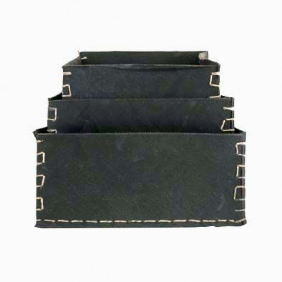 Set of 3 square dacarr boxes