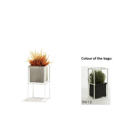 Modulares Pflanzengestell 2x Weiß + 1 Anthrazit Tasche