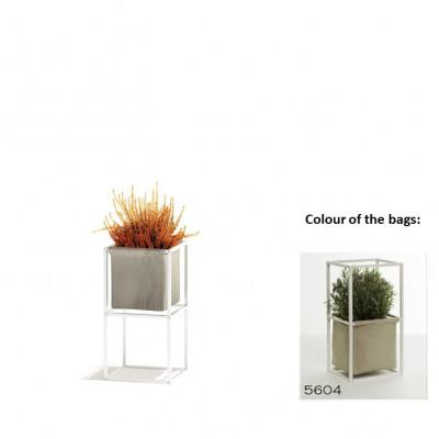 Modulares Pflanzengestell 2x Weiß + 1 beige Tasche