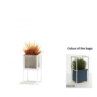Modulares Pflanzengestell 2x Weiß + 1 blaue Tasche