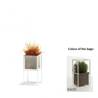 Modulares Pflanzengestell 2x Weiß + 1 braune Tasche