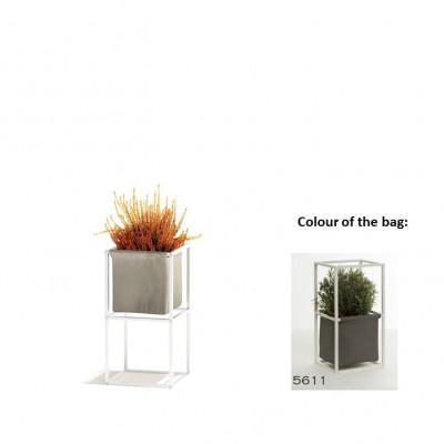 Modulares Pflanzengestell 2x Weiß + 1 dunkelgraue Tasche