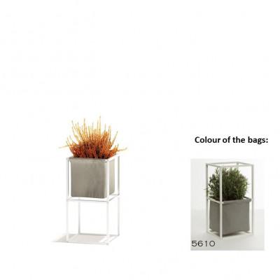 Modulares Pflanzengestell 2x Weiß + 1 graue Tasche
