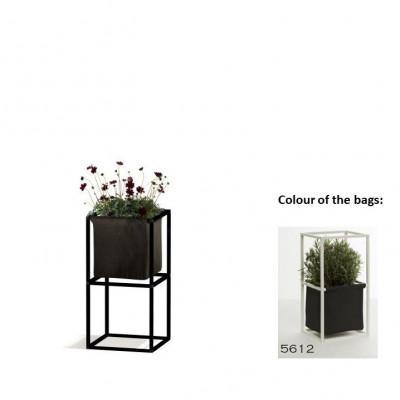 Modulares Pflanzengestell 2x Schwarz + 1 Anthrazit Tasche
