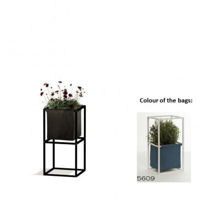 Modulares Pflanzengestell 2x Schwarz + 1 blaue Tasche