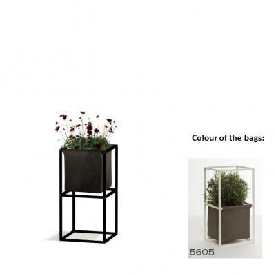 Modulares Pflanzengestell 2x Schwarz + 1 braune Tasche
