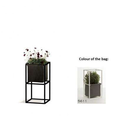 Modulares Pflanzengestell 2x Schwarz + 1 dunkelgraue Tasche