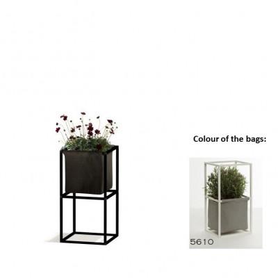Modulares Pflanzengestell 2x Schwarz + 1 graue Tasche