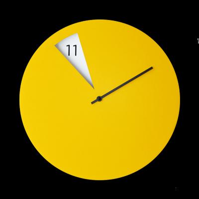 Freakish Clock Yellow