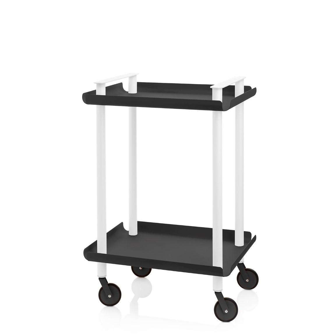 Trolley Leky H 73 cm | Weiß-Schwarz