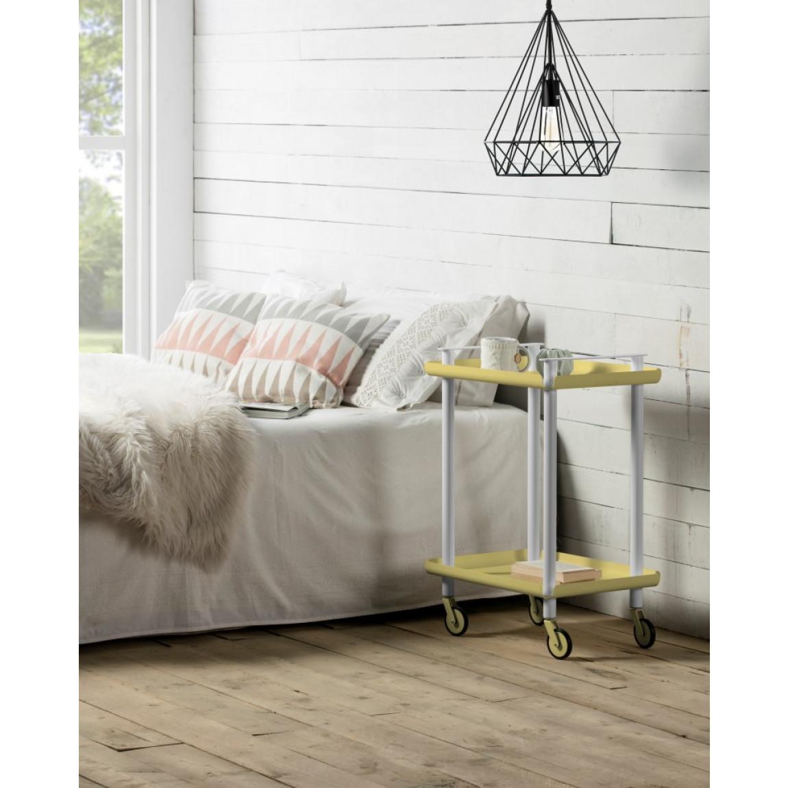 Trolley Leky H 73 cm | Grau-Grün