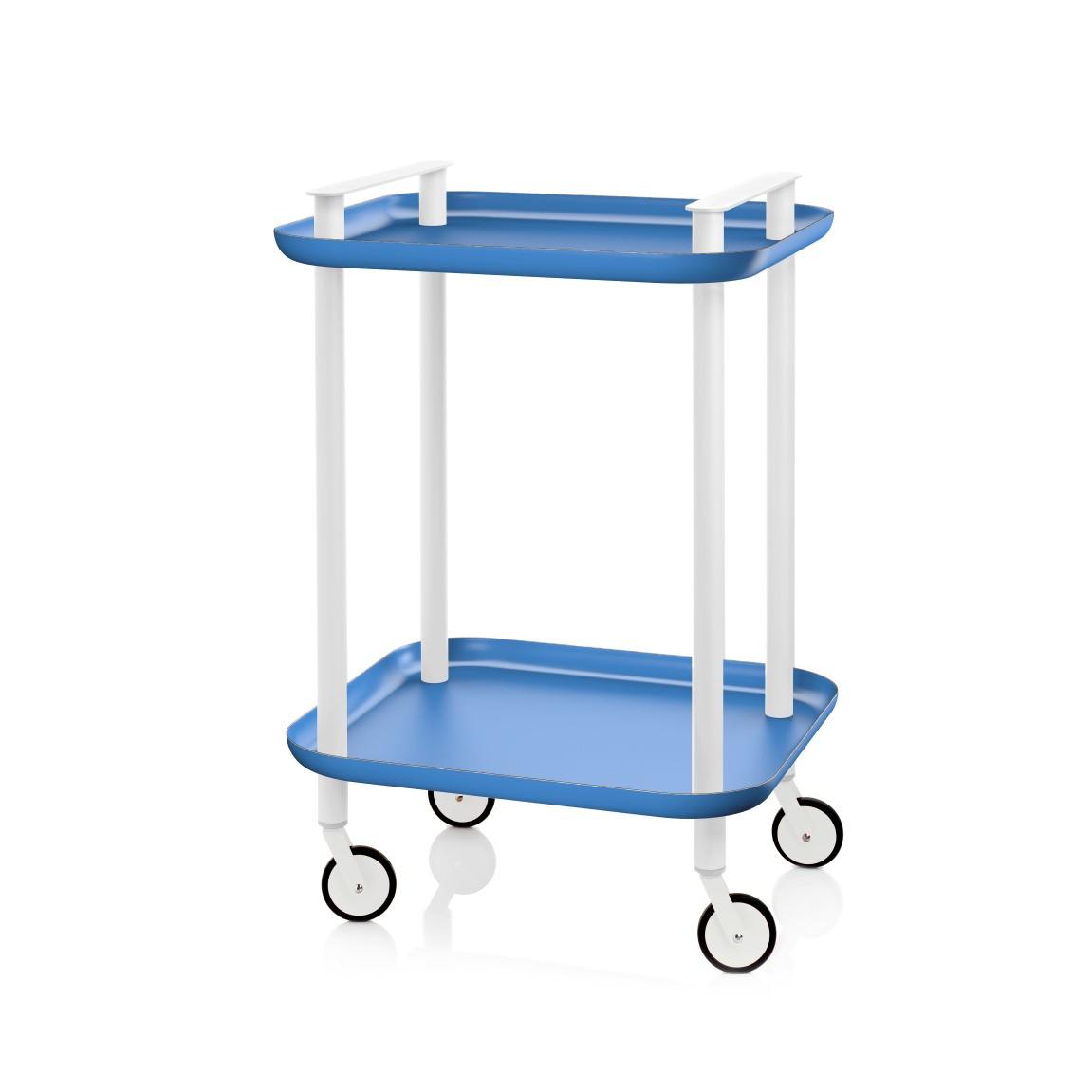 Trolley Delica H 73 cm | Weiß & Blau