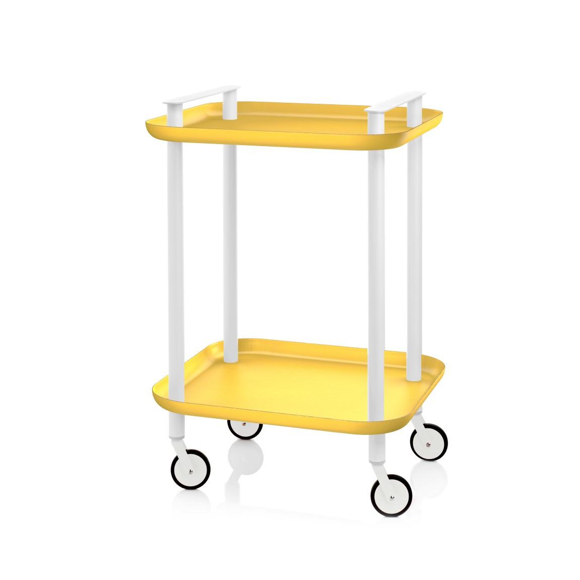 Trolley Delica H 73 cm | Weiß & Gelb
