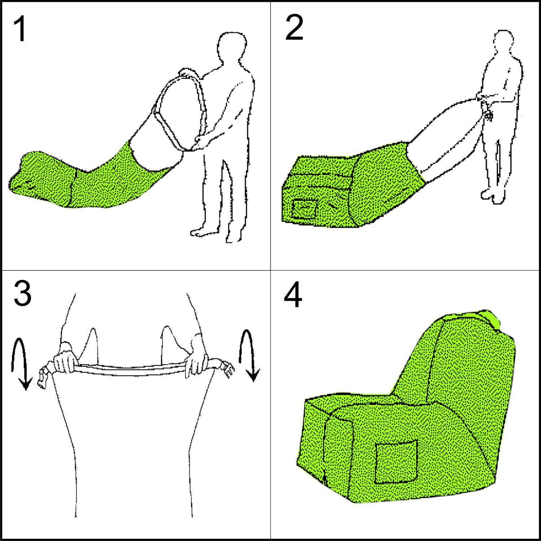 Inflatable Armchair Bean   Beige