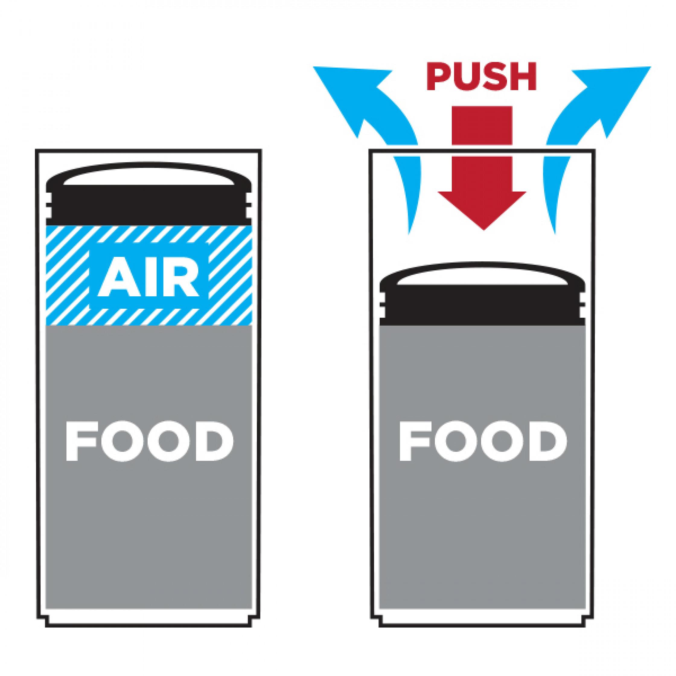 Boîte de Conservation avec Système de Vide d'Air Small | Bas