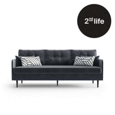 2tes Leben | 3-Sitzer-Sofa Memphis | Anthrazit