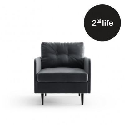 2tes Leben | Sessel Memphis | Anthrazit / Dunkelgrau