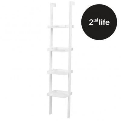 2tes Leben | Wandbücherregal Schmal | Weiß