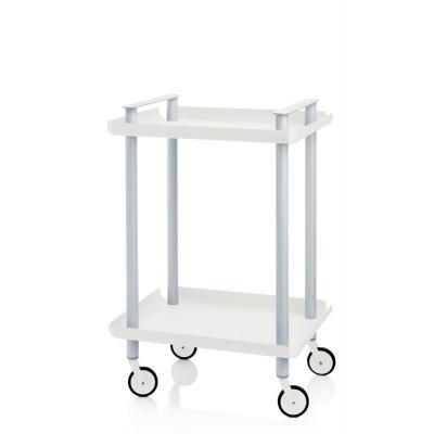 Trolley Leky H 73 cm | Grau-Weiß