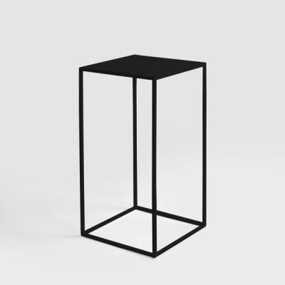 Couchtisch Tensio Metall 30 x 30 cm | Schwarz