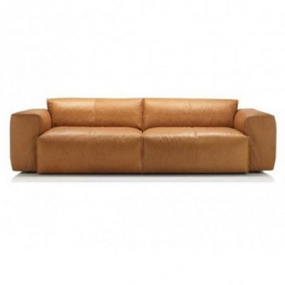 3-Sitzer-Sofa Fresno Savoy Leder 0964 | Cognac Braun