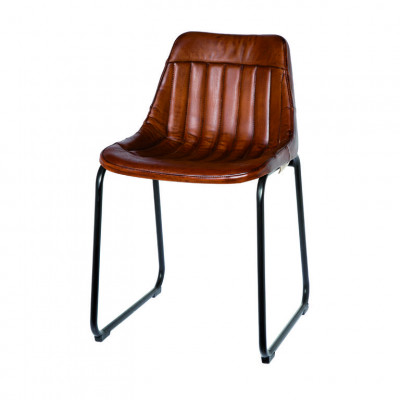 Chair Jersey | Brown Leather