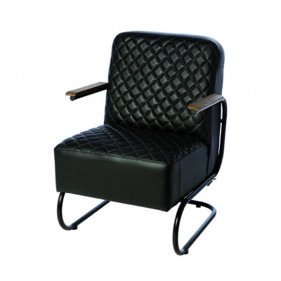 Fauteuil Brooklyn | Black Leather