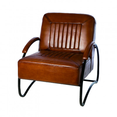 Fauteuil Jersey | Brown Leather