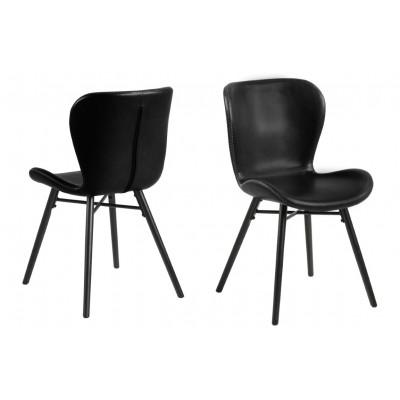 2-er Set Stühle Matilda-A1 | Schwarz