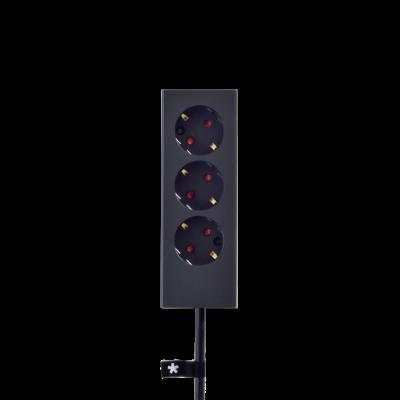 3er-Mehrfachsteckdose Plug   Graphit