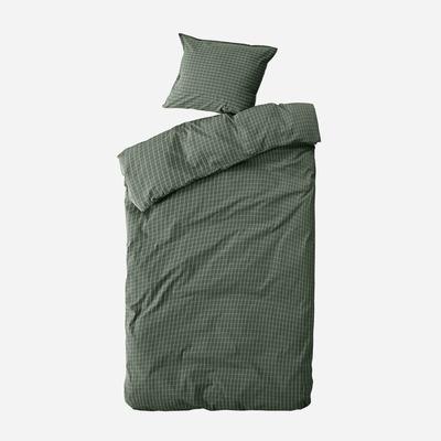 Einzelner Bettbezug mit Kopfkissenbezug 60 x 63 Erika   Waldgrün & Schnee