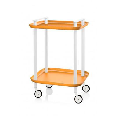 Trolley Delica H 73 cm | Weiß & Orange