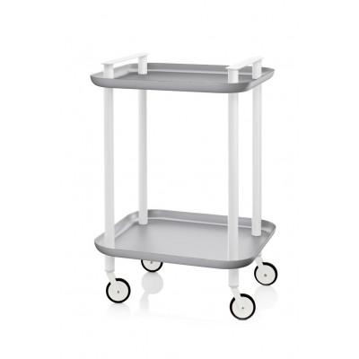 Trolley Delica H 73 cm | Weiß & Grau