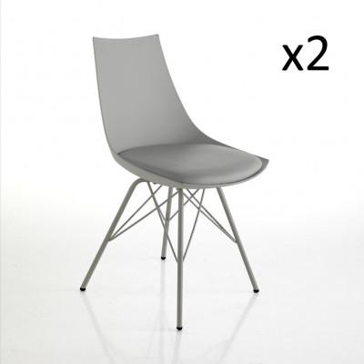2er-Set   Stuhl Kiki   Grau