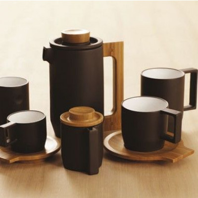 Purple Clay Coffee Set