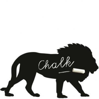 Magnetic Chalkboard Sticker | Lion