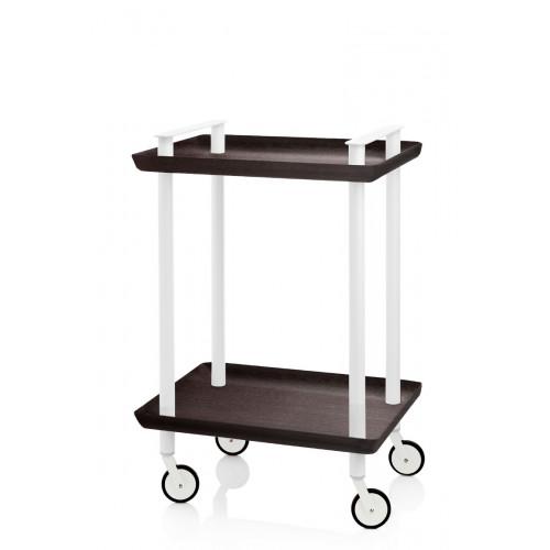 Trolley Delica H 73 cm | Weiß und Schwarz