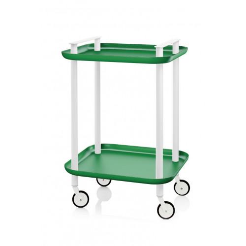 Trolley Delica H 73 cm | Weiß & Grün