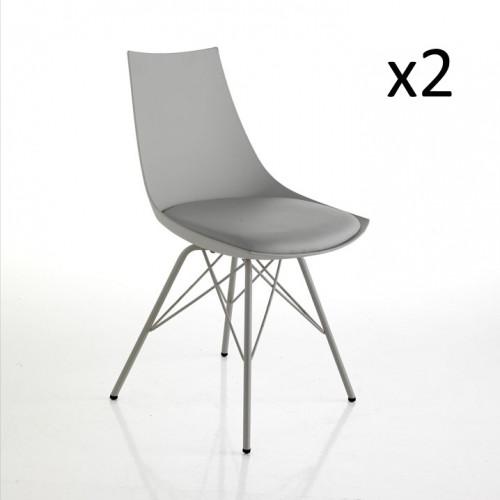 Set of 2 | Chairs Kiki | Grey
